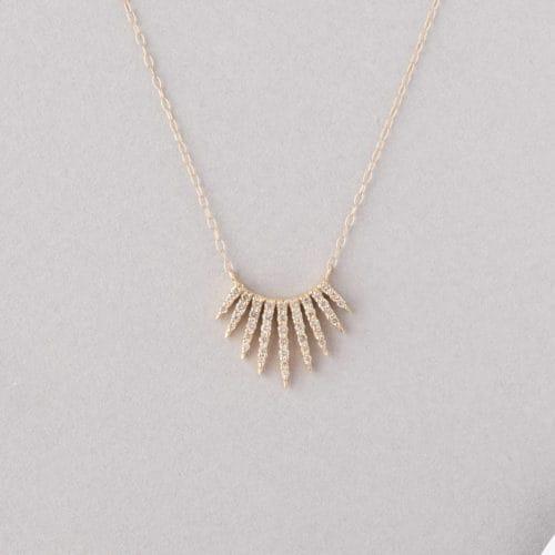 185f4cd3429a4e rising sun diamond necklace. Celine Daoust