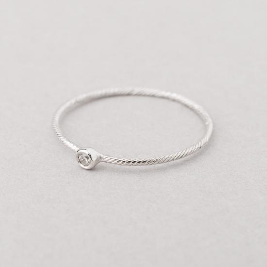 Fine ring white gold.