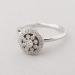 Statement rosas ring with diamonds.