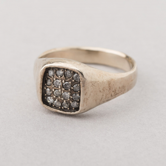 Seal ring with diamonds.