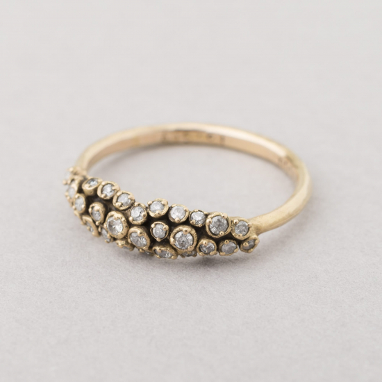 Perfect cluster diamond ring.