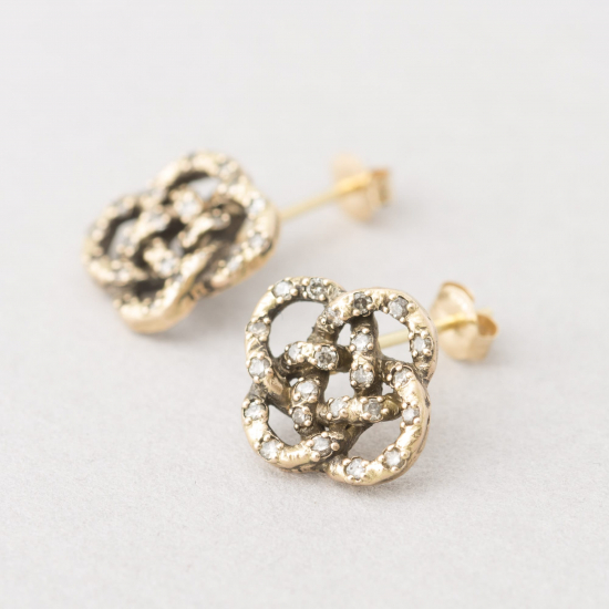 Braided knot earrings.