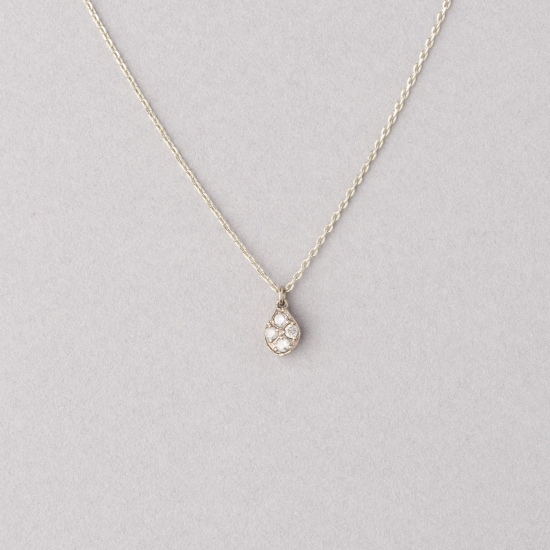 white gold diamond drop necklace