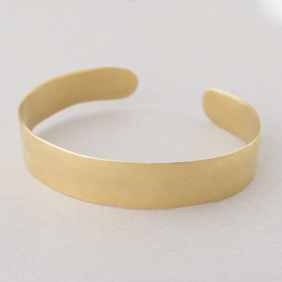 hammered gold statement cuff bracelet