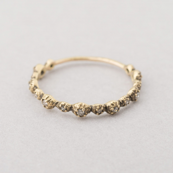 carved diamond setting ring