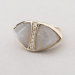 double triangle grey moonstone ring
