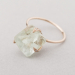 raw fluorite crystal ring