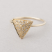 diamond pyramid ring