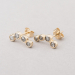 """left or right"" in a row earring studs"