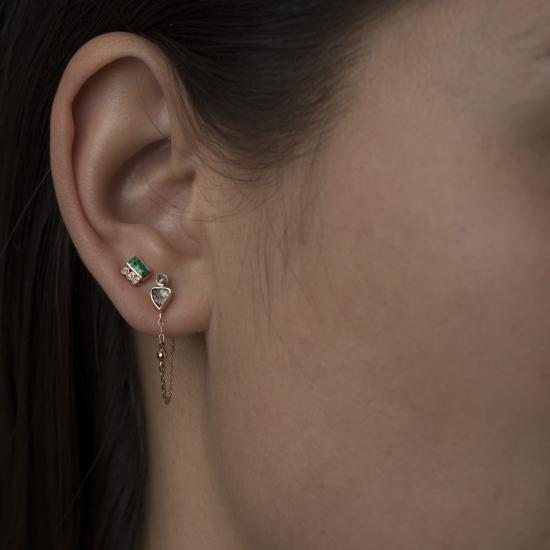 earring single piece stud