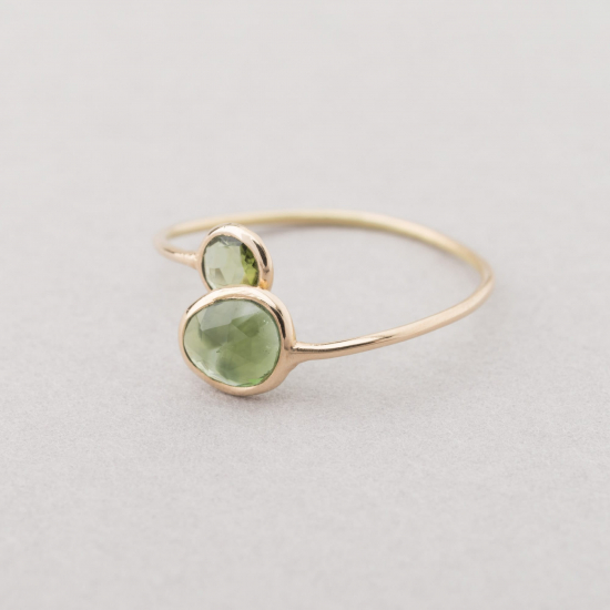 Maya double tourmaline ring