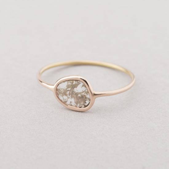 Grey slice diamond ring