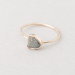 Rough grey diamond collet setting ring