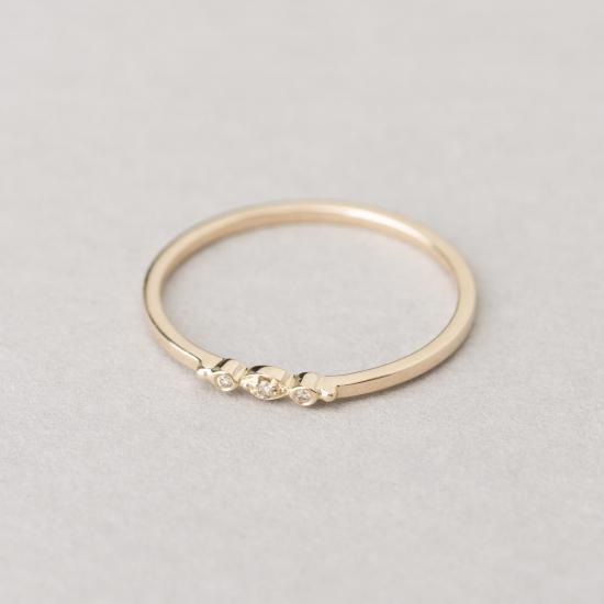 Mini eye diamond ring